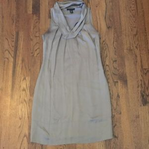 [Kenneth Cole] Silk Shift Dress with Cowl Neck